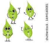 set of isolated funny cartoon... | Shutterstock .eps vector #1644160081