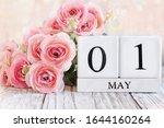 White Wood Calendar Blocks With ...