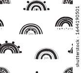 seamless childish black white... | Shutterstock .eps vector #1644190501