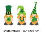 st. patrick's day gnomes with... | Shutterstock .eps vector #1644201724