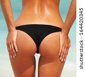 summer beach concept. sexy... | Shutterstock . vector #164420345