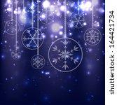 abstract christmas balls on...   Shutterstock .eps vector #164421734