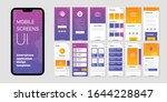 mobile screens set with user...
