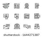 set of social networking vector ...