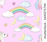 cartoon seamless pattern.... | Shutterstock .eps vector #1644271744
