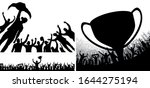 winner's trophy champion belt...   Shutterstock .eps vector #1644275194