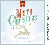 i wish you a merry christmas... | Shutterstock .eps vector #164428115
