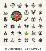 christmas icons set.vector | Shutterstock .eps vector #164429525