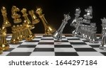 3d rendering gold and silver... | Shutterstock . vector #1644297184