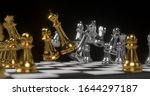 3d rendering gold and silver... | Shutterstock . vector #1644297187