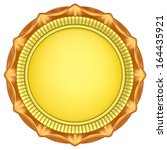 abstract circle label isolated... | Shutterstock . vector #164435921