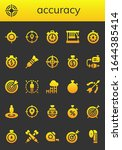accuracy icon set. 26 filled... | Shutterstock .eps vector #1644385414