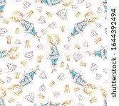 watercolor cute nursery naive... | Shutterstock . vector #1644392494