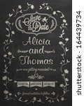 save the date wedding... | Shutterstock .eps vector #164439734