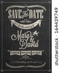 save the date wedding... | Shutterstock .eps vector #164439749