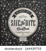 save the date wedding... | Shutterstock .eps vector #164439755
