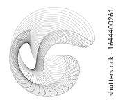 circular wireframe mesh logo... | Shutterstock .eps vector #1644400261