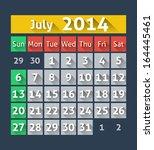 calendar for july 2014