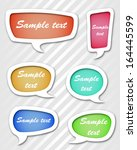 speech bubbles set vector... | Shutterstock .eps vector #164445599