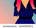 woman in purple dress. cartoon...   Shutterstock .eps vector #1644509011