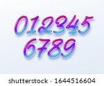 rainbow sale lettering numbers...   Shutterstock .eps vector #1644516604