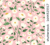 Daisy Flower Seamless Pattern...