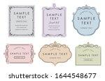 elegant card frame template set ... | Shutterstock .eps vector #1644548677