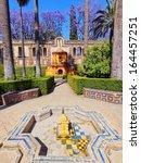 gardens in reales alcazares in... | Shutterstock . vector #164457251