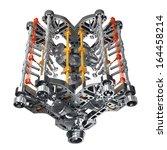 V8 Car Engine Isolated On White ...