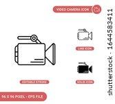video camera icons set vector...