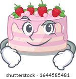 cool strawberry cake mascot... | Shutterstock .eps vector #1644585481