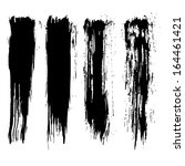 set of grunge brush strokes.... | Shutterstock . vector #164461421