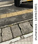 Small photo of Textured paving block and Braille block