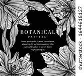 black and white botanical... | Shutterstock .eps vector #1644618127