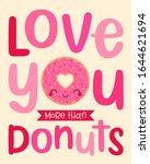 cute donut cartoon illustration ... | Shutterstock .eps vector #1644621694