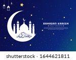 ramadan kareem background with... | Shutterstock .eps vector #1644621811