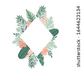 tropical frame with palm leaves.... | Shutterstock .eps vector #1644623134