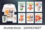 cute animals illustration.... | Shutterstock .eps vector #1644624607