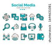 social media icon collection...   Shutterstock .eps vector #1644631081