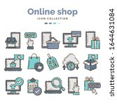 online shop icon collection...   Shutterstock .eps vector #1644631084