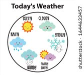 set of weather  today's weather ... | Shutterstock .eps vector #1644633457