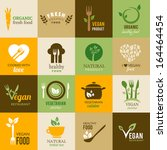 icons representing healthy ... | Shutterstock .eps vector #164464454