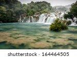 waterfalls on krka river.... | Shutterstock . vector #164464505