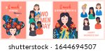 women's day cute greeting card... | Shutterstock .eps vector #1644694507