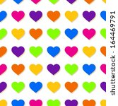 abstract colorful hearts... | Shutterstock .eps vector #164469791