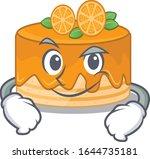 cool orange cake mascot... | Shutterstock .eps vector #1644735181