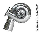 steel turbocharger isolated on... | Shutterstock . vector #164477075