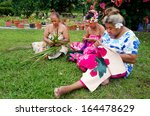 portrait of polynesian pacific... | Shutterstock . vector #164478629