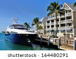 Luxurious Yacht Docked In Fron...