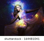 creative portrait  fashion...   Shutterstock . vector #164481041